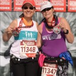 Donna and I with our medals.