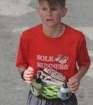 Will crossing the finish line.